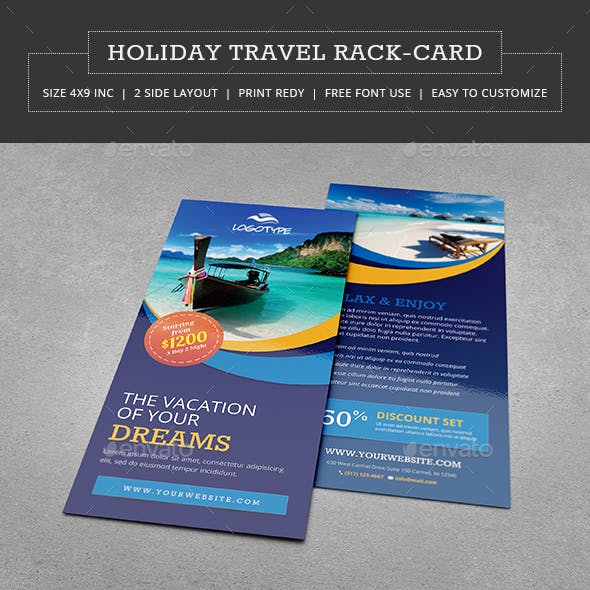 Travel & Vacation Rack Card