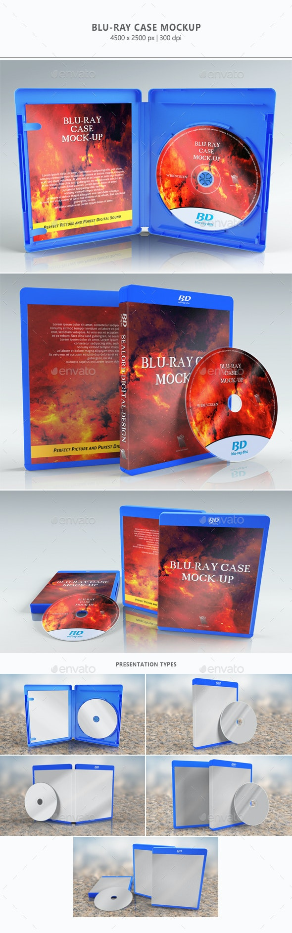 Blu-ray Case Mock-up - Discs Packaging