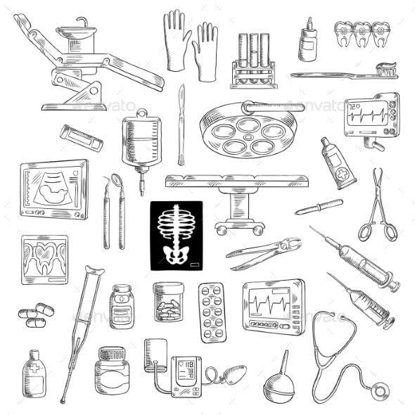 Medicine Icons for Hospital