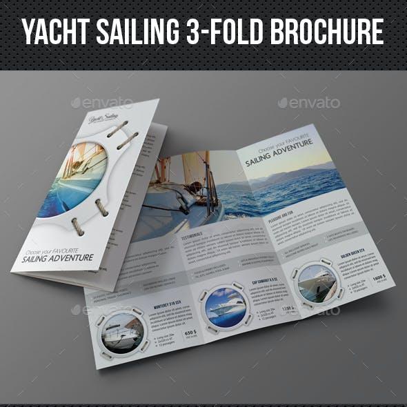 Yacht Boat Sailing 3-Fold Brochure 02