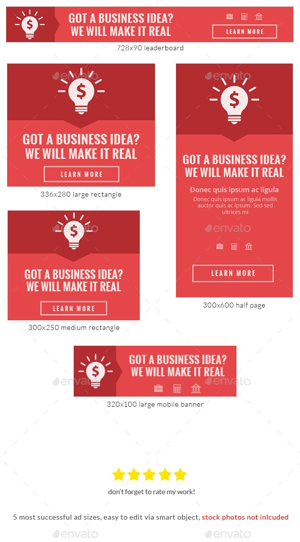 Red Finale Web Banner Template - Banners & Ads Web Elements