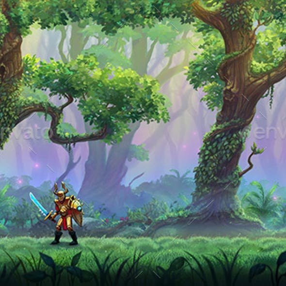 Parallax Forest Background