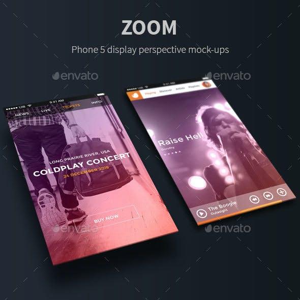 Zoom - Phone 5 Perspective Mock-Ups