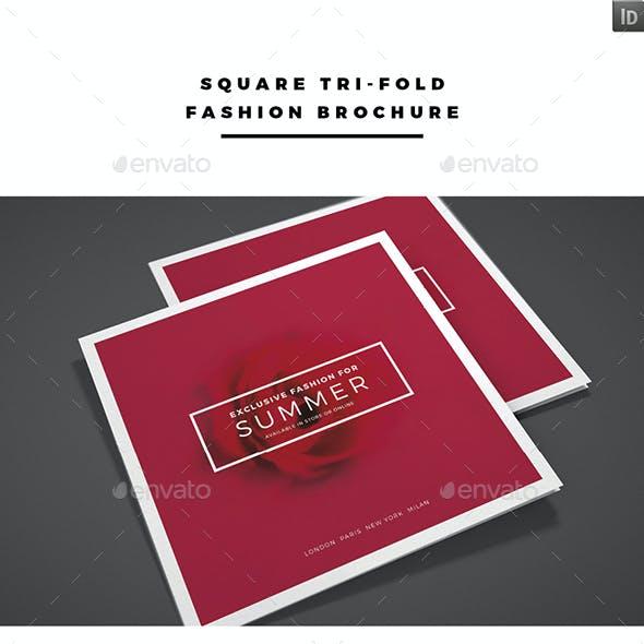 Square Tri-fold Fashion Brochure