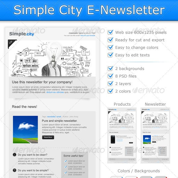 Simple City E Newsletter Template