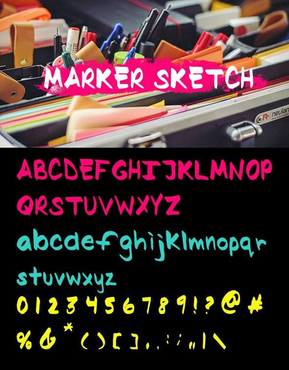 Marker Sketch - Comic Decorative