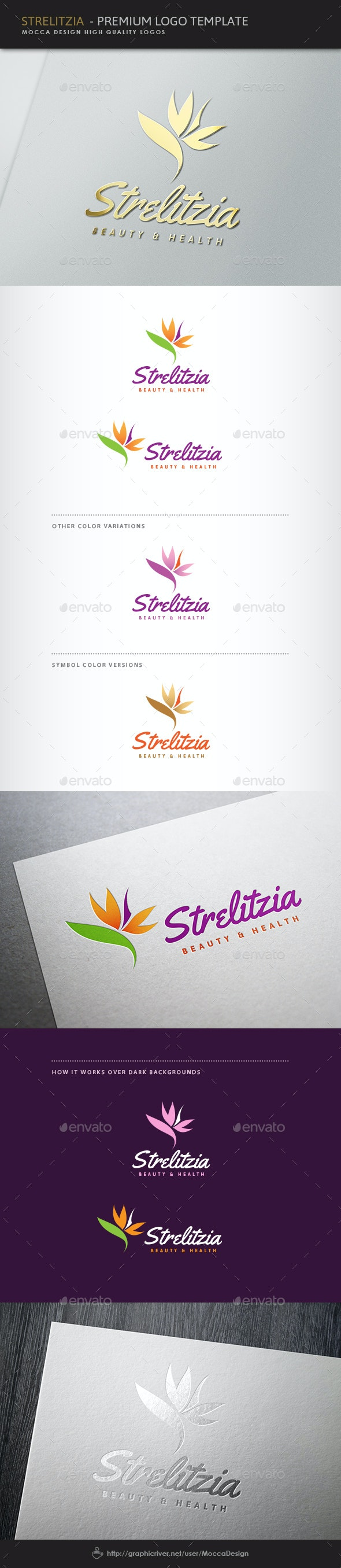 Strelitzia Logo - Nature Logo Templates