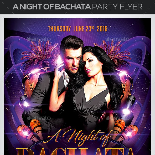 A Nigth of Bachata Party Flyer