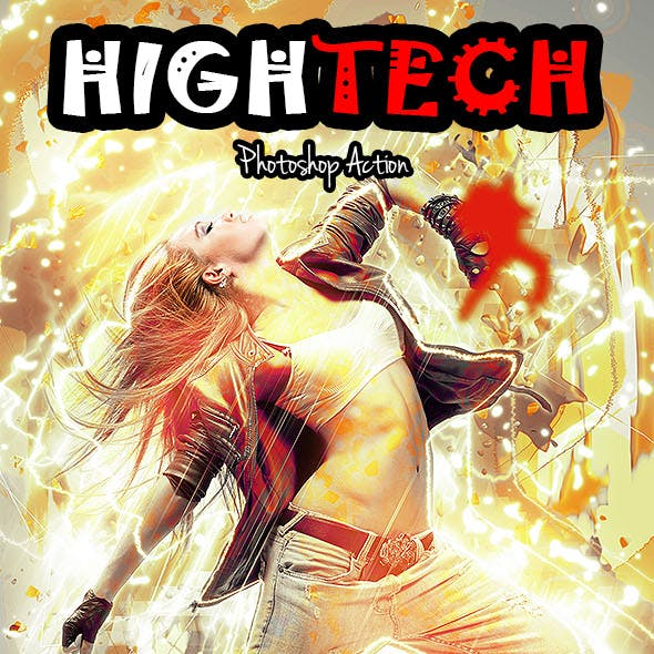 Hightech Photoshop Action