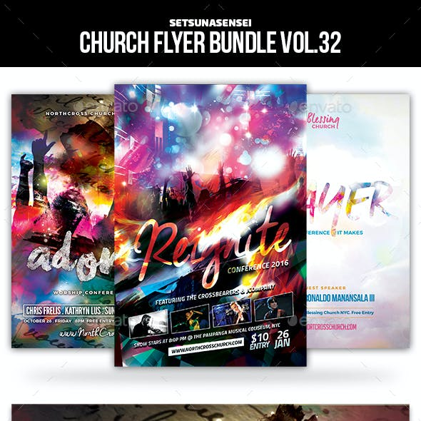 Church Flyer Bundle Vol. 32