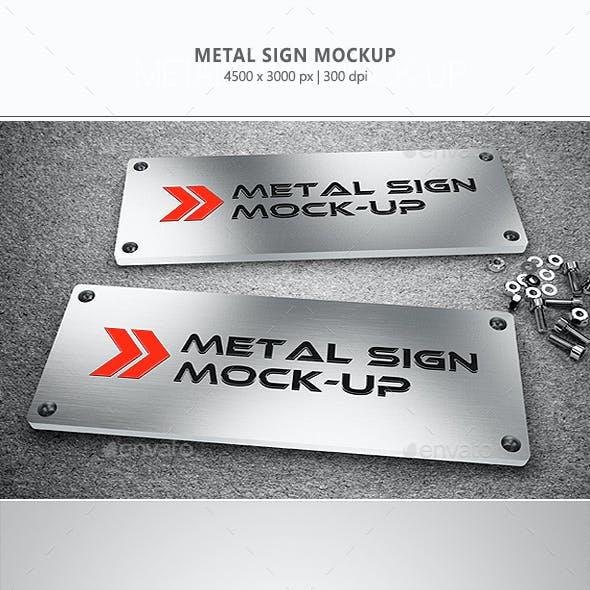 Metal Sign Mock-up