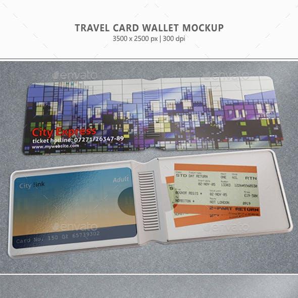 Travel Card Wallet Mock-up