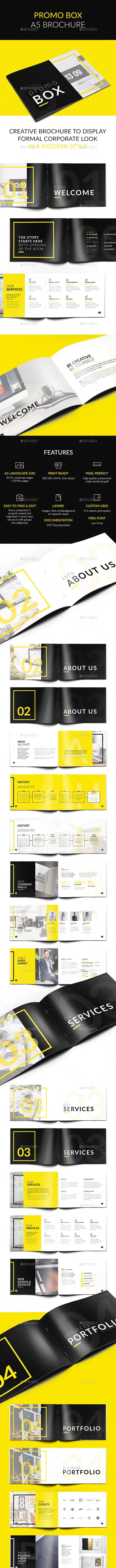 Promo BOX A5 Brochure - Brochures Print Templates