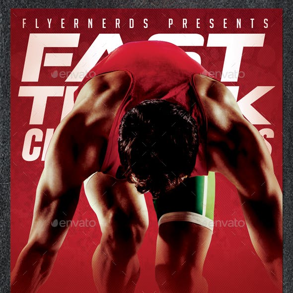 Fast Track Sprint Competition Sports Flyer