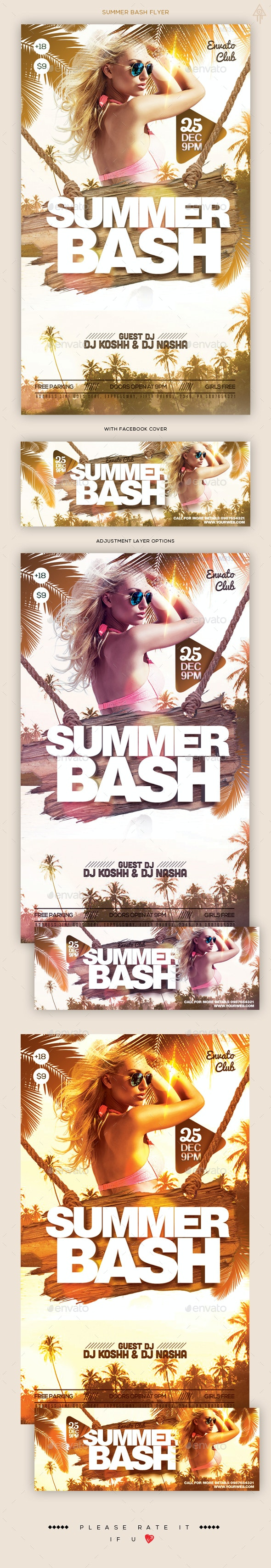 Summer Bash Flyer / Facebook Cover - Clubs & Parties Events