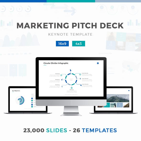 Marketing Pitch Deck Keynote Template