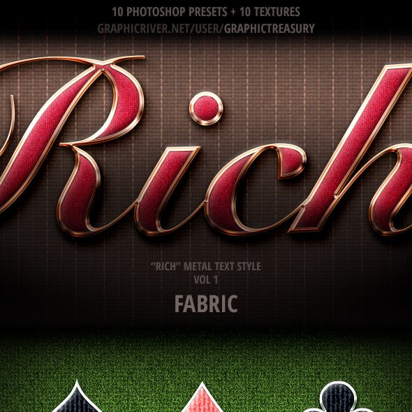 """Rich"" Metal Text Style — Vol 1 ""Fabric"""