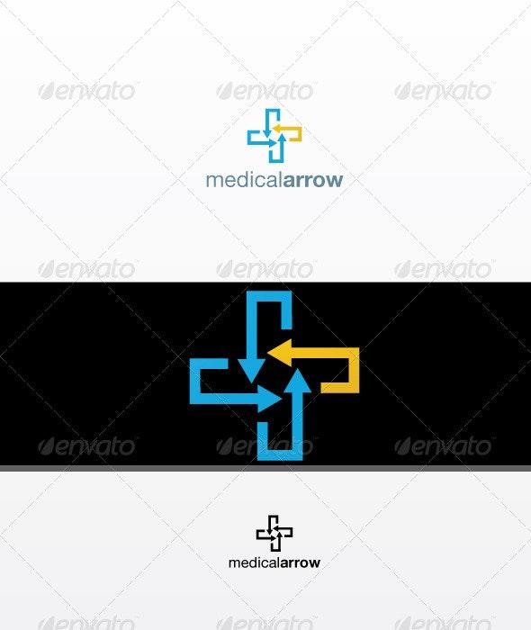 Medic Arrow - Symbols Logo Templates