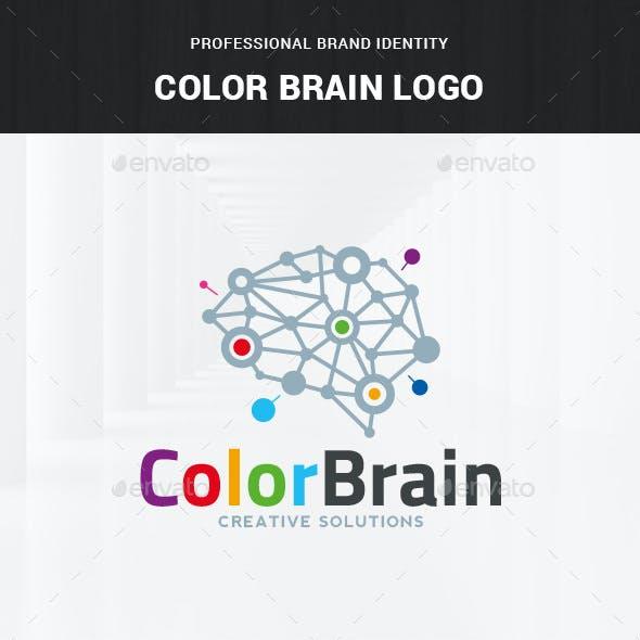 Color Brain Logo Template