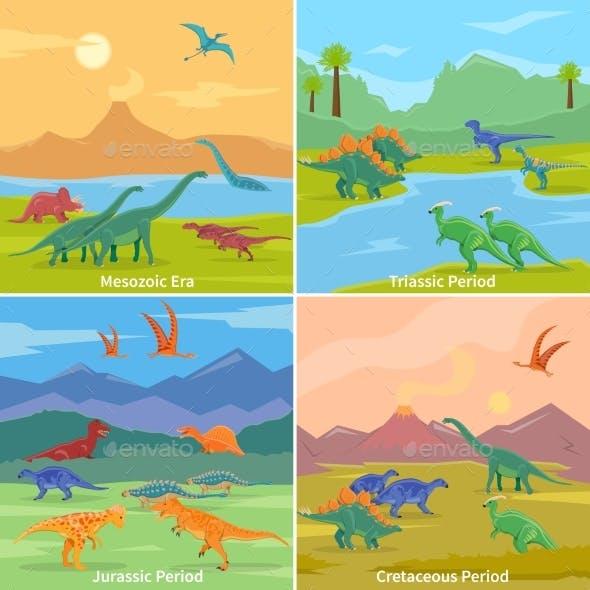 Dinosaurs 2X2 Design Concept