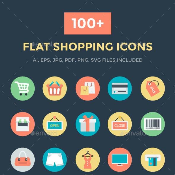 100+ Flat Shopping Icons