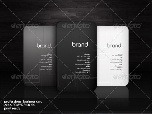 Sophisticated Business Cards - Corporate Business Cards