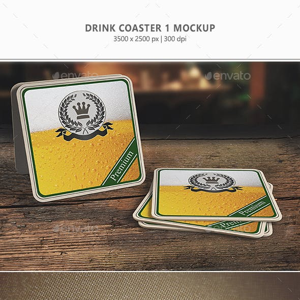 Drink Coaster Mock-Up Vol.1