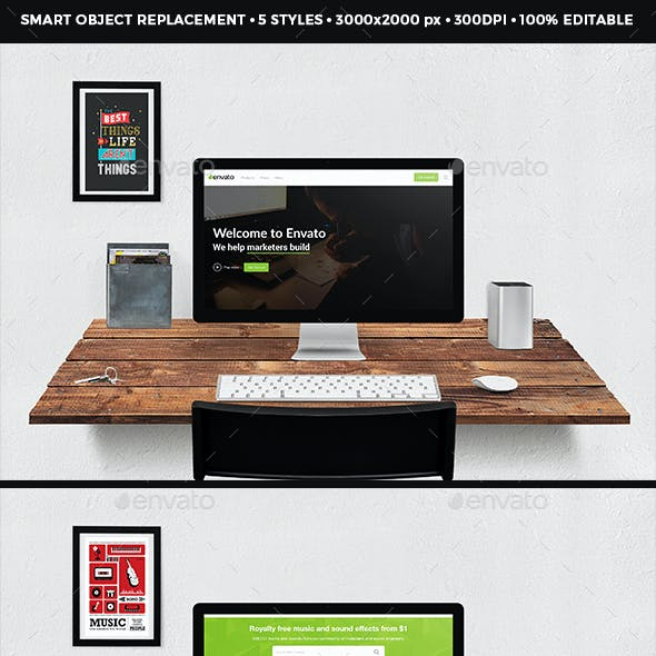 Screen Devices Mockup Design PSD