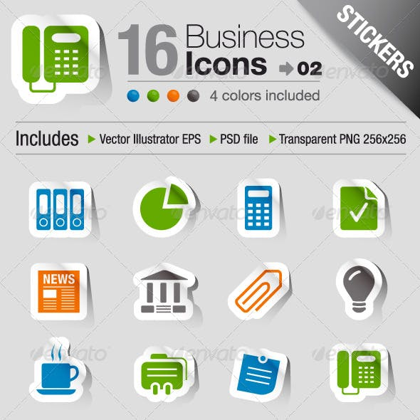 Stickers - Office And Business Icons 02