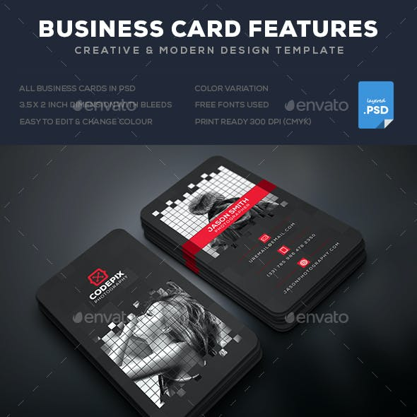 Pixel Photography Business Card