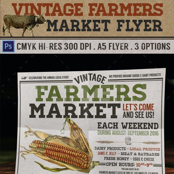 Vintage Farmers Market Flyer