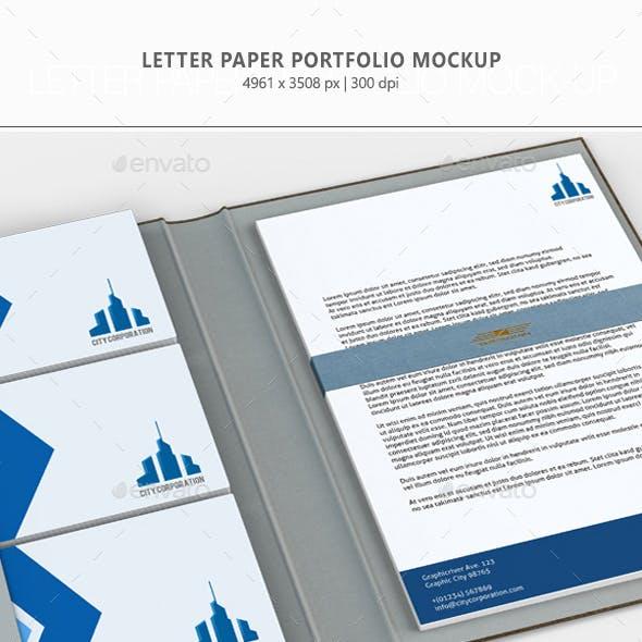 Letter Paper Portfolio Mock-up
