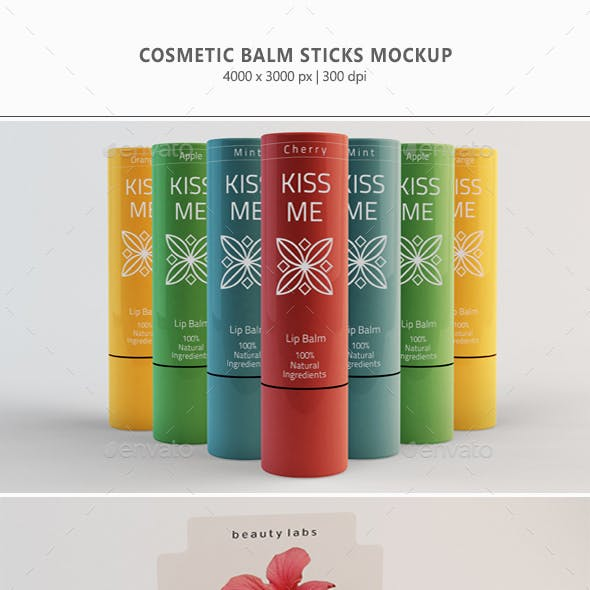 Cosmetic Mockup - Balm Stick