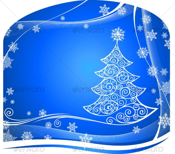 Christmass Tree Background - Backgrounds Decorative