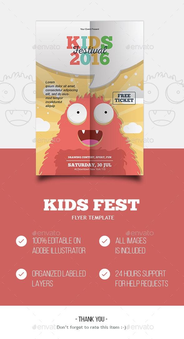 KIDS FESTIVAL - Flyers Print Templates