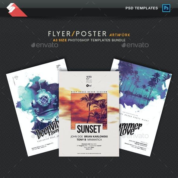 Creative Sound vol.2 - Party Flyer / Poster Templates Bundle