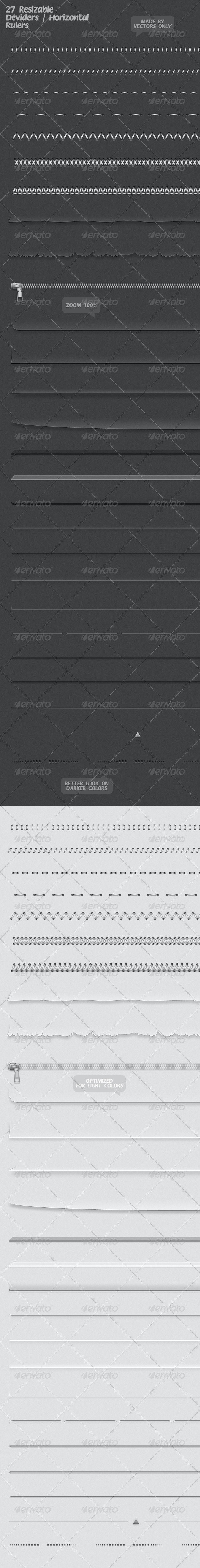 27 Resizable Dividers / Horizontal Rulers - Miscellaneous Web Elements