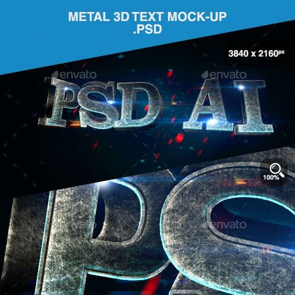 Metal 3D Text Mock-up