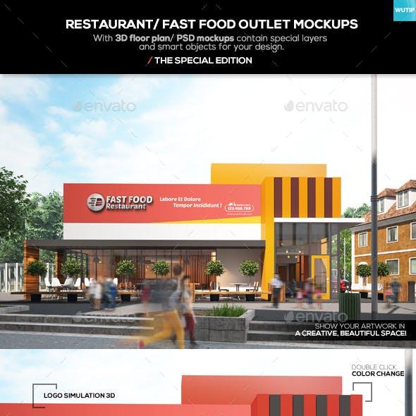 Restaurant/ Fast Food Outlet Mockups