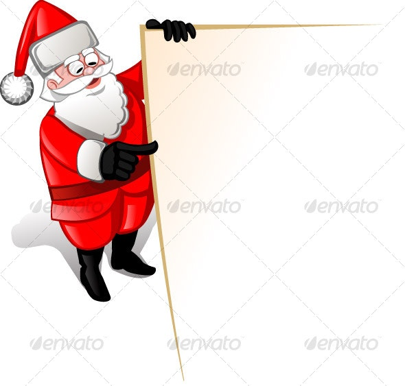 Santa pointing to blank list - Characters Vectors