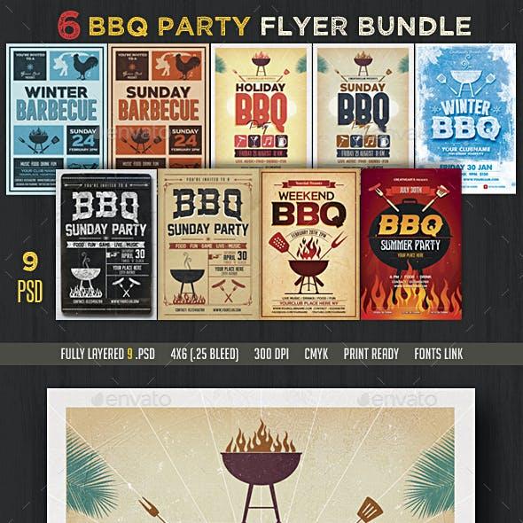 6 BBQ Flyer Bundle