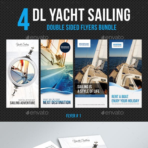 4 in 1 DL Yacht Sailing Flyer Bundle