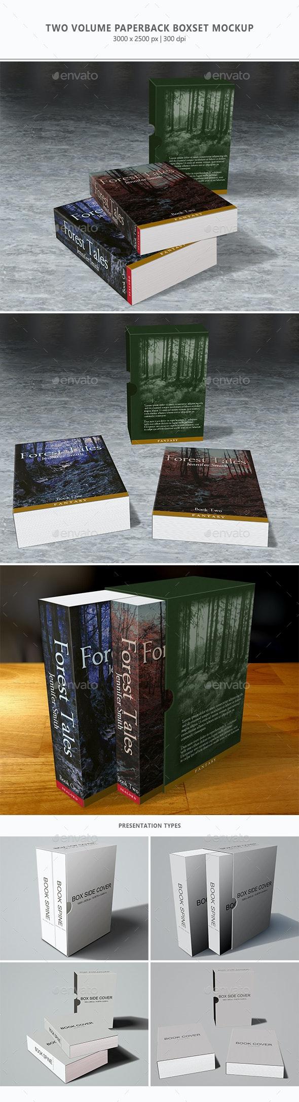 2 Volume Paperback Boxset Mock-up - Books Print
