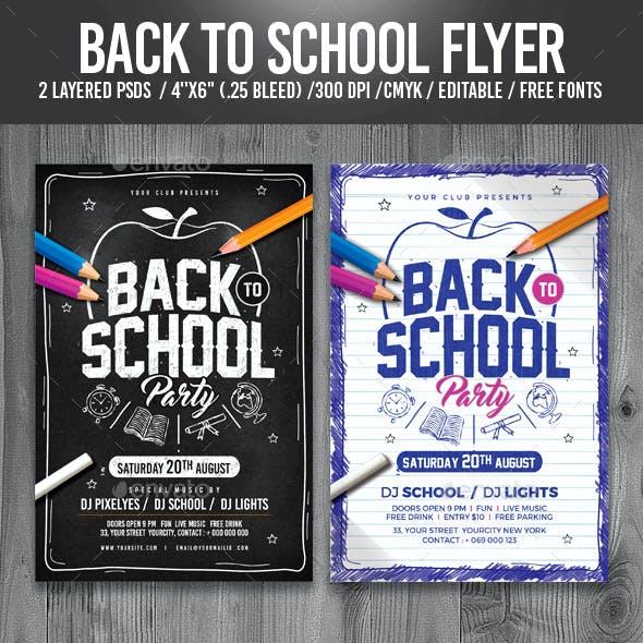 Back to School Flyer