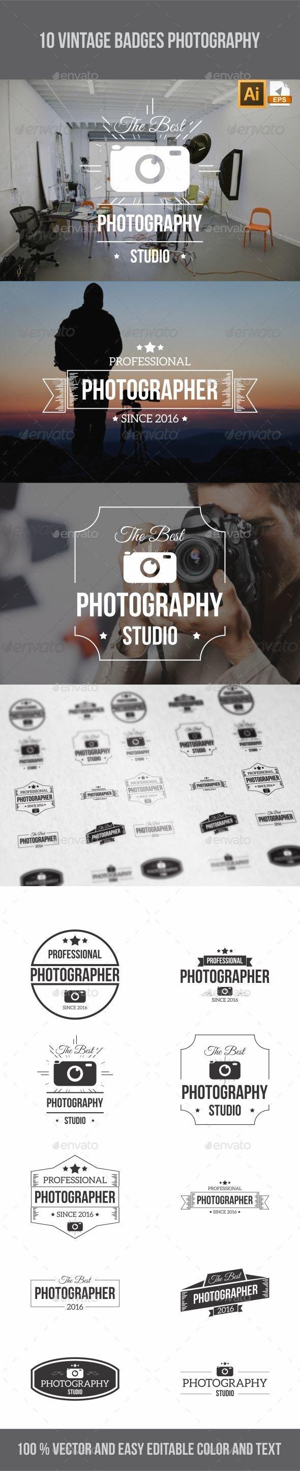 Vintage Badges Photography - Badges & Stickers Web Elements