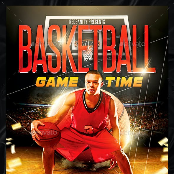 Basketball Game Time Flyer