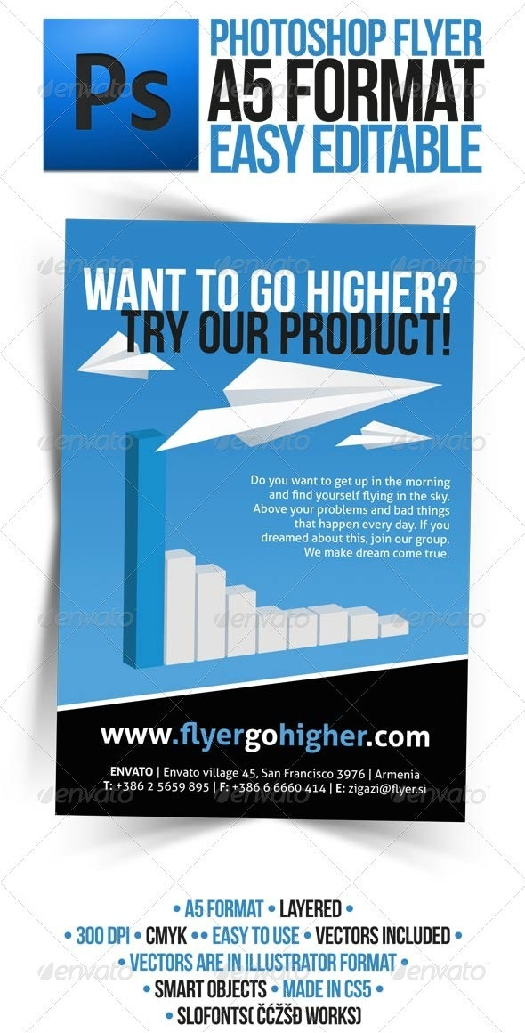 Business Promotion Corporate A5 Flyer - Corporate Flyers