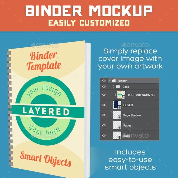 Binder Mockup PSD
