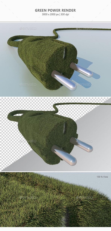 Green-Power - 3D Renders Graphics