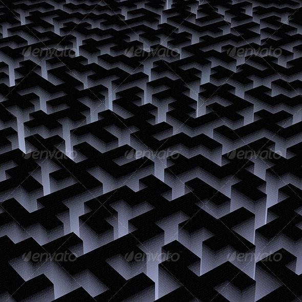 binary labyrinth - 3D Backgrounds